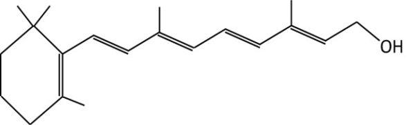 ויטמין A באחת מצורותיו: רתינול