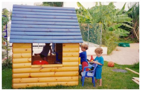 wood children playhouse
